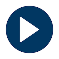 Play button - blue - mobile