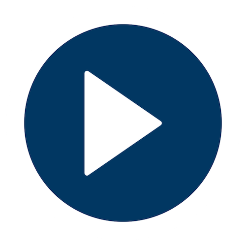 Play button - blue
